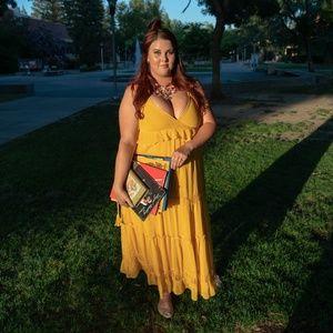 Yellow Summer Maxi Dress